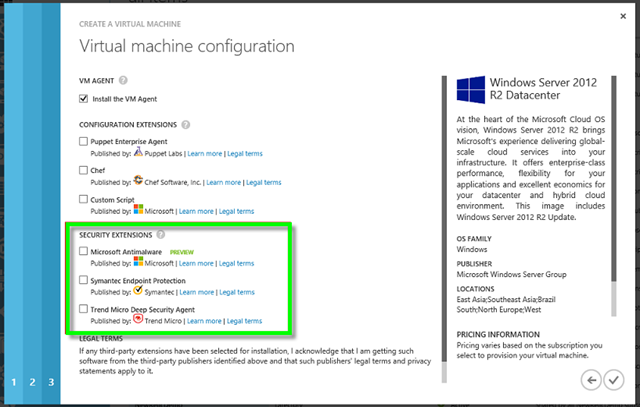 New in Windows Azure (VM Security Extensions) « System